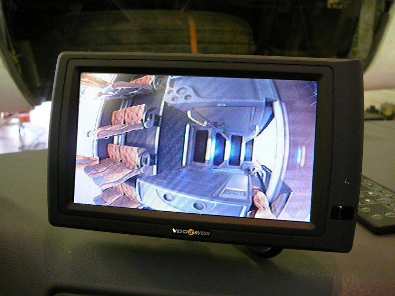 Monitor řidiče  -  kamera schodiště