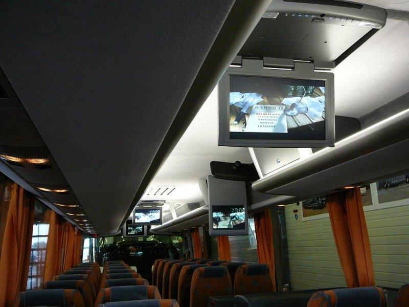 """Instalace 17"""" stropních monitorů   DVD"""