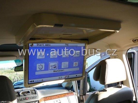 """Instalace 19""""elektrického monitoru, 2DIN autorádia, GPS navigace, DVB T TV tuneru, ozvučení, napájení 220V"""