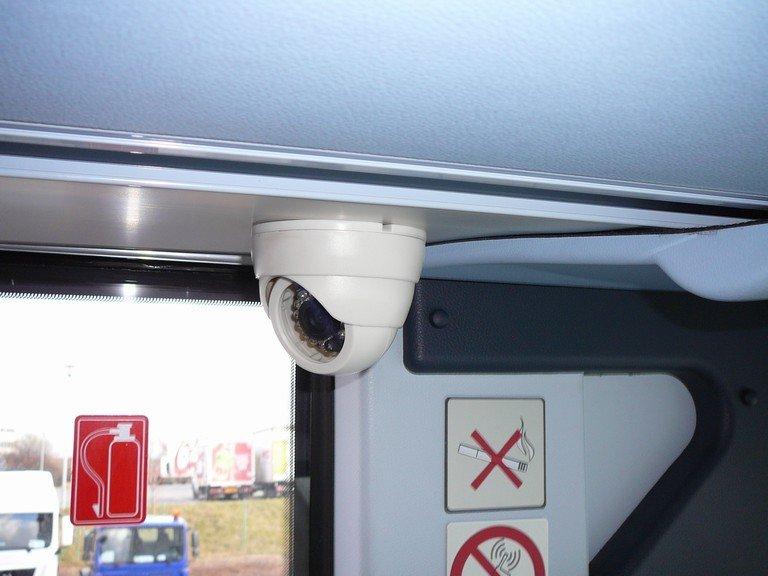 Detail interiérové kamery